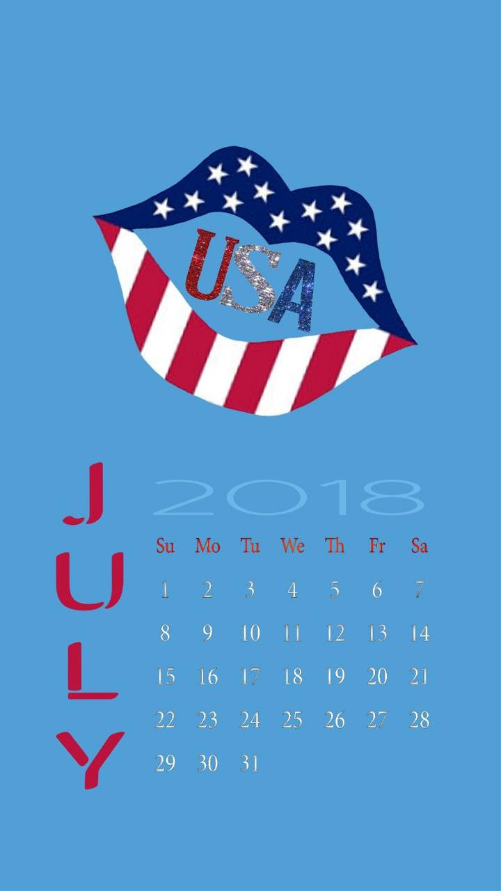 Red White Blue July