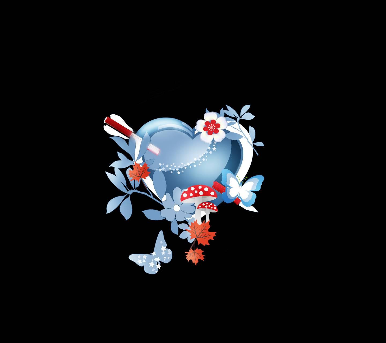 Heart flower 046