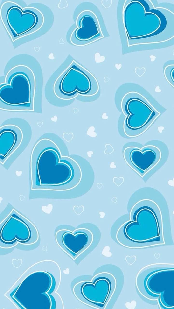 Tiny Hearts in Blue