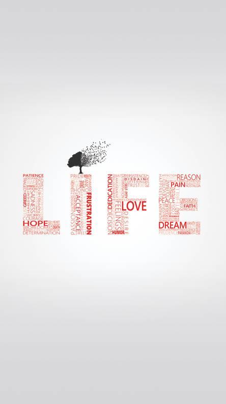 life typography