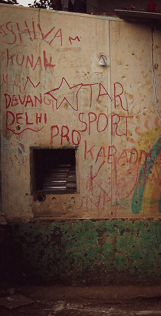 Graffiti in slum