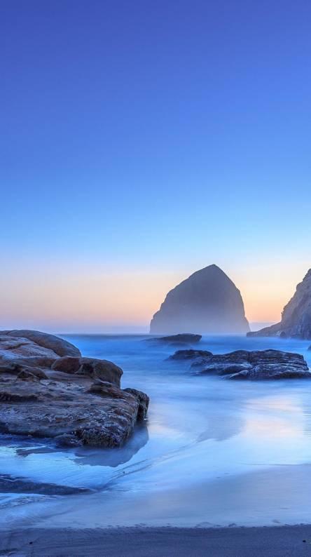 Ocean blue beach