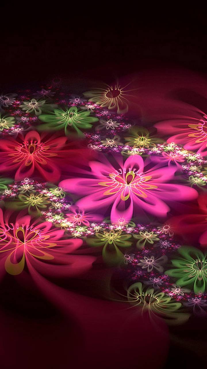 3D Color Flowers