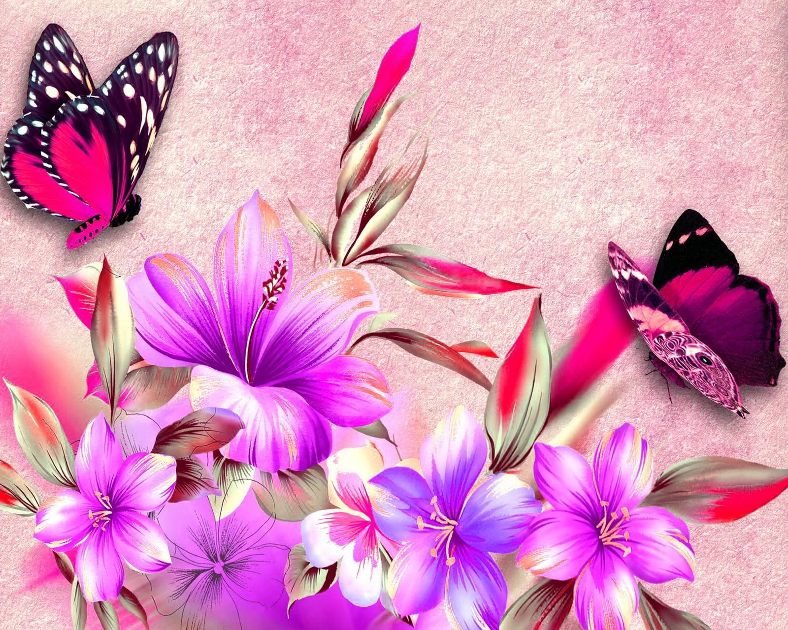 Flowers Butterflies
