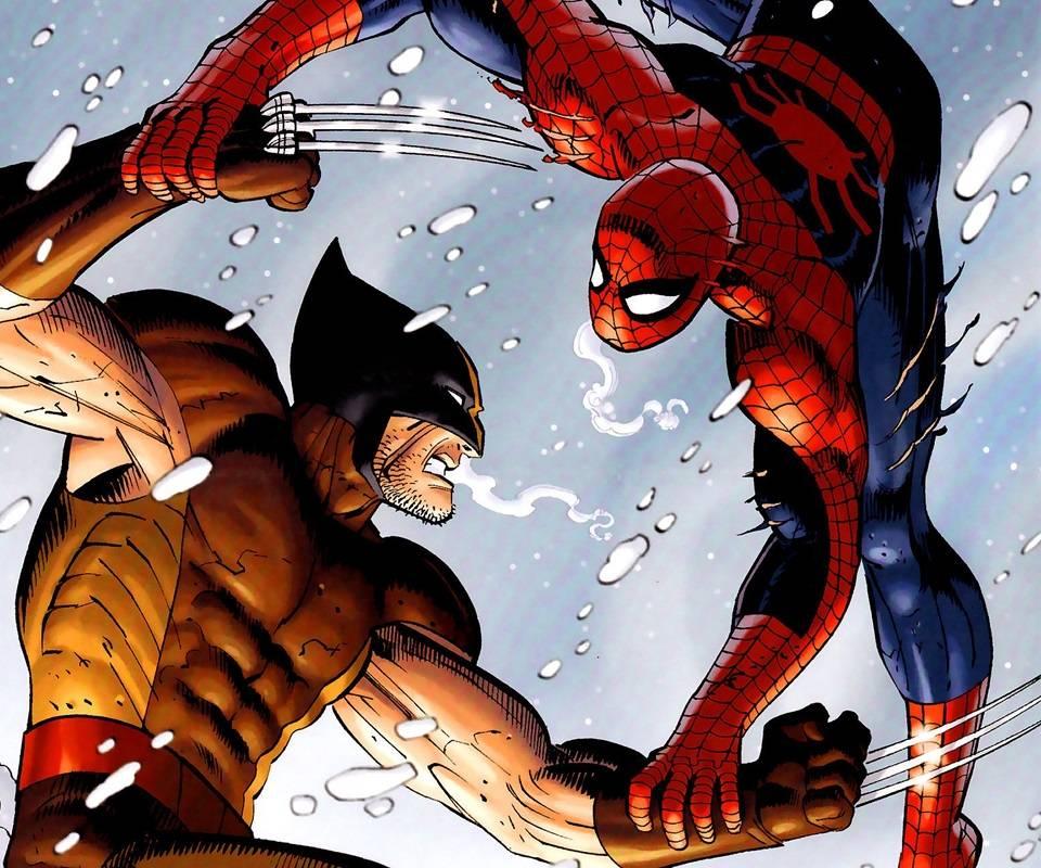 wolverine spiderman