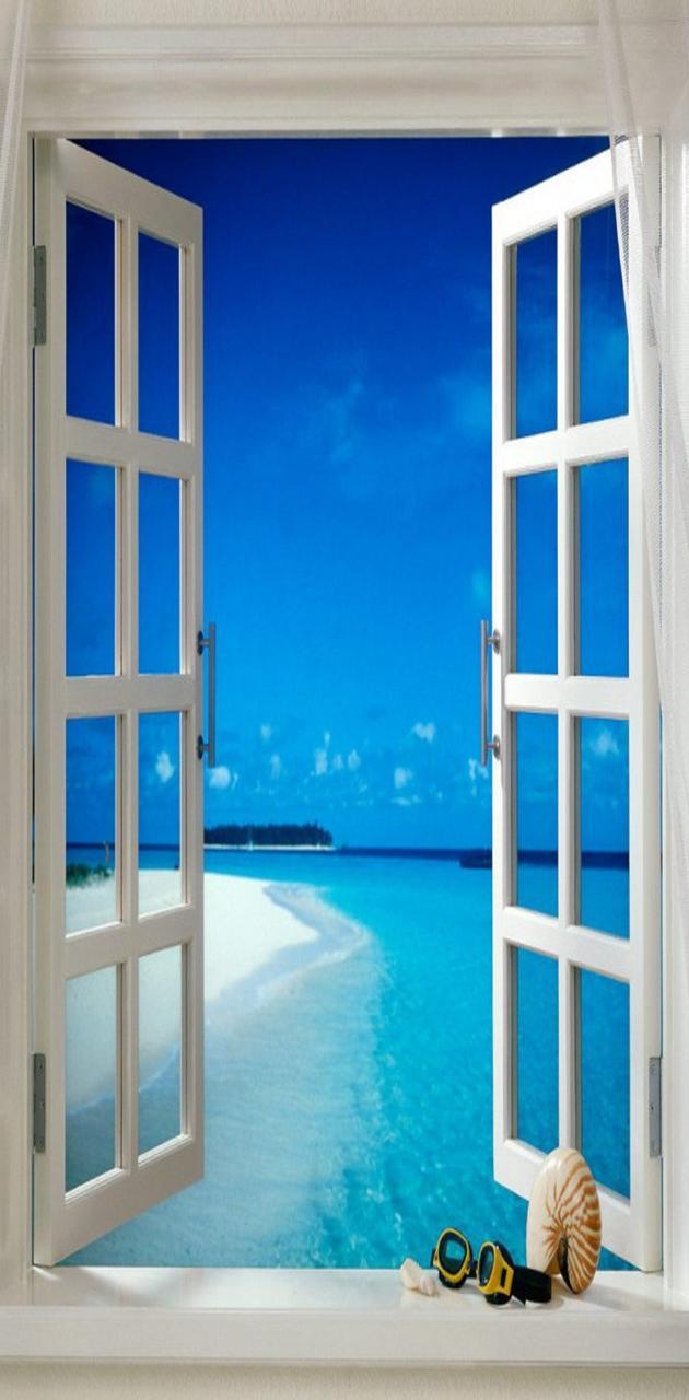 Window to beach