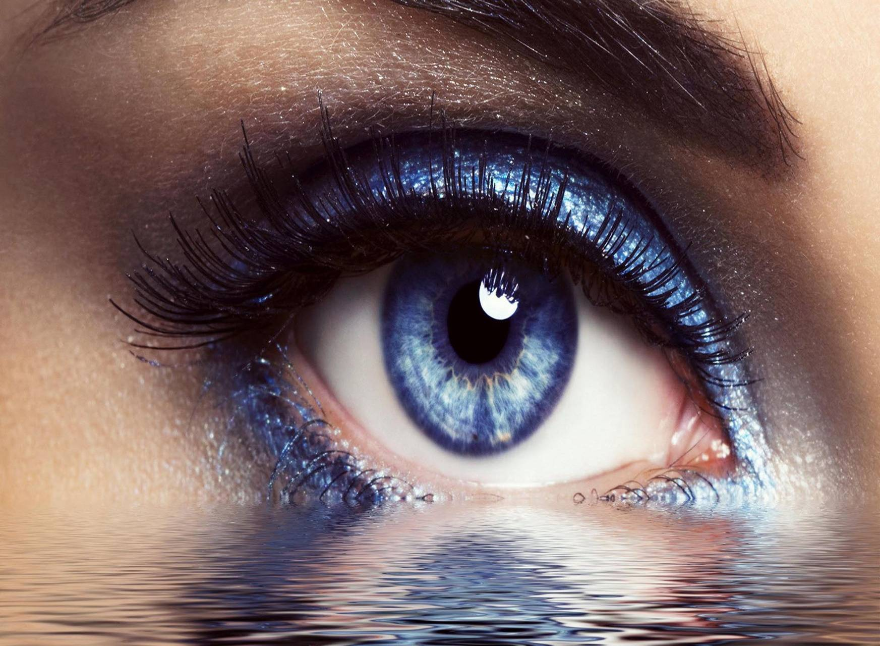 Eyes with water