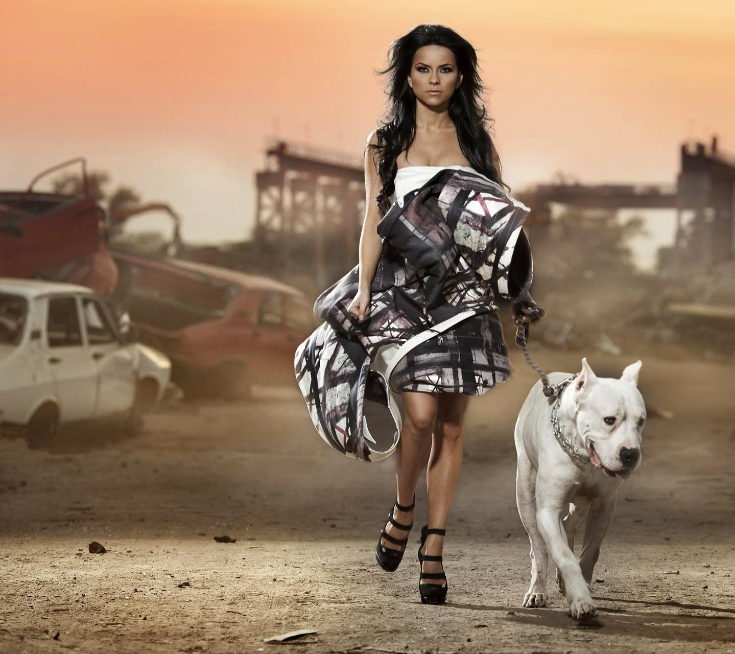 Inna With Dog