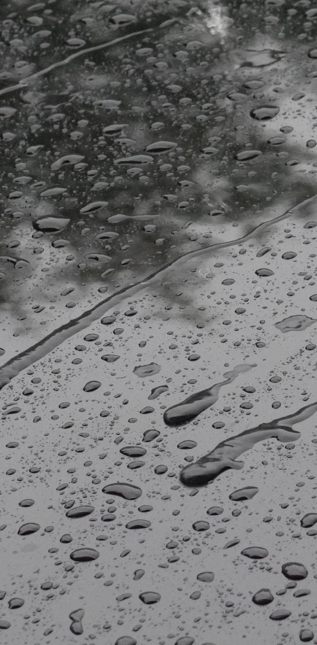 Water drops in a car