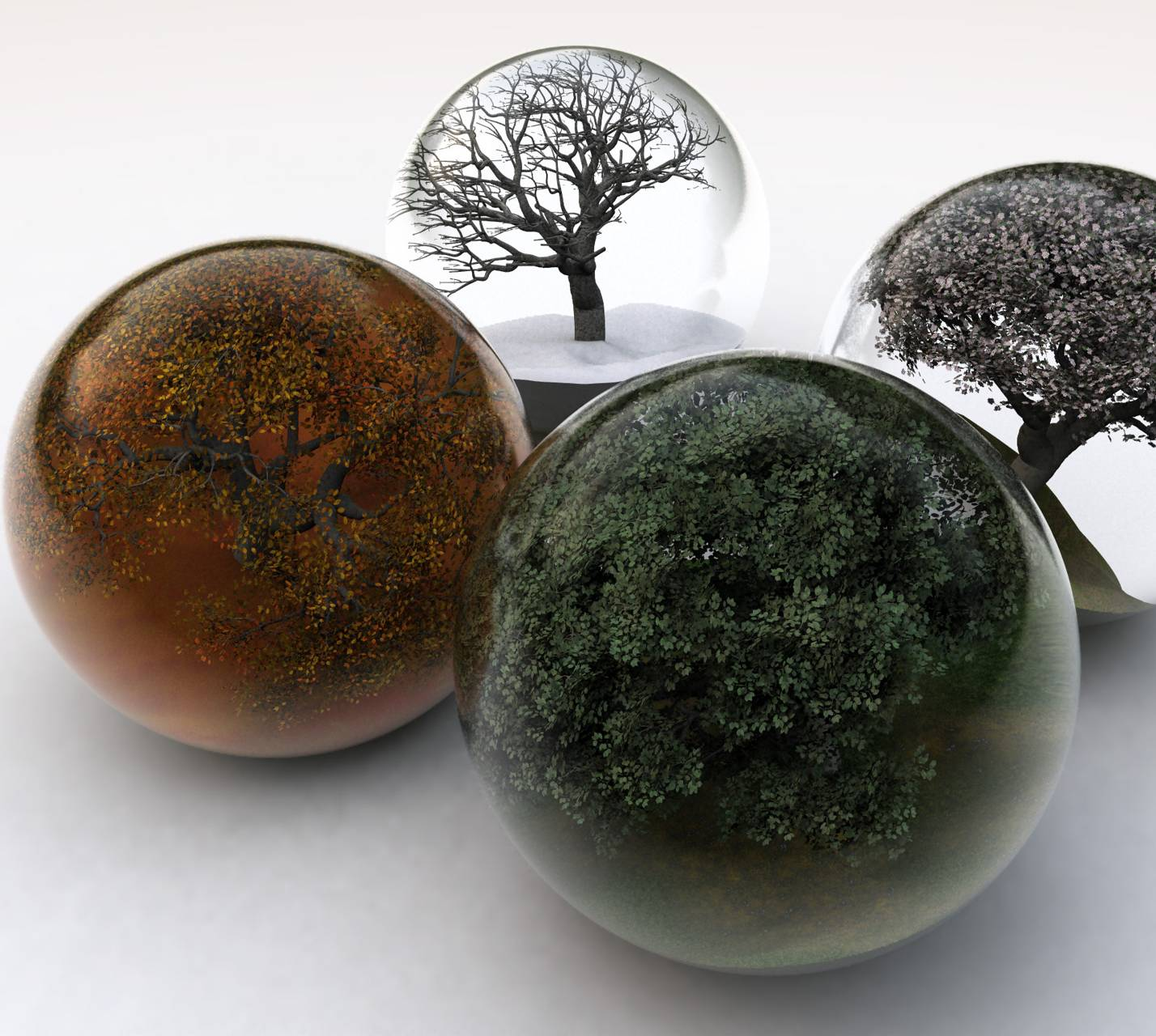 Trees In Glass Balls