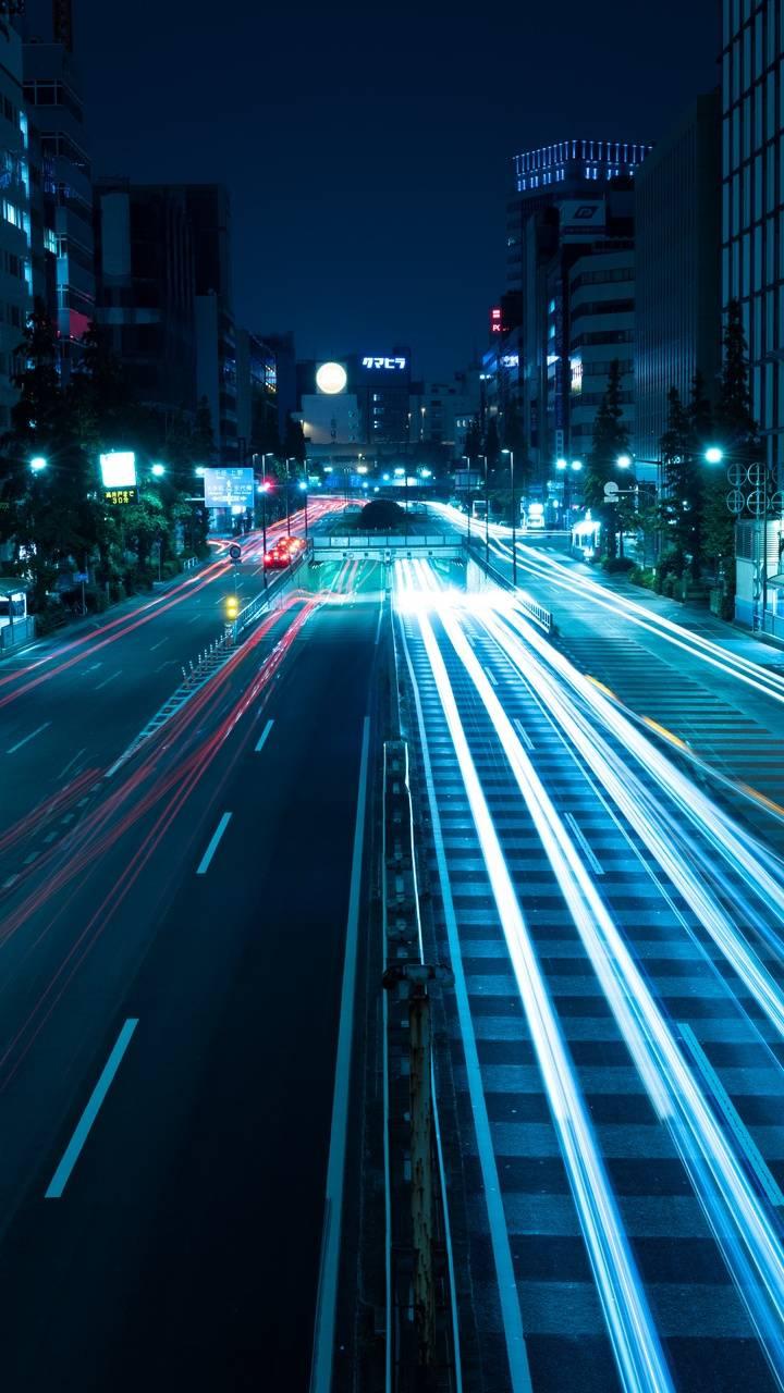 City neon light