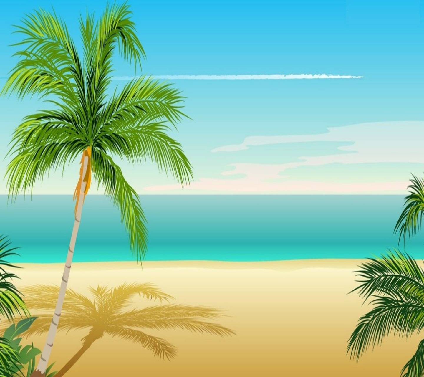 3d Beach Wall Hd