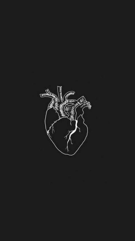 Iphone Black Heart Emoji Wallpaper