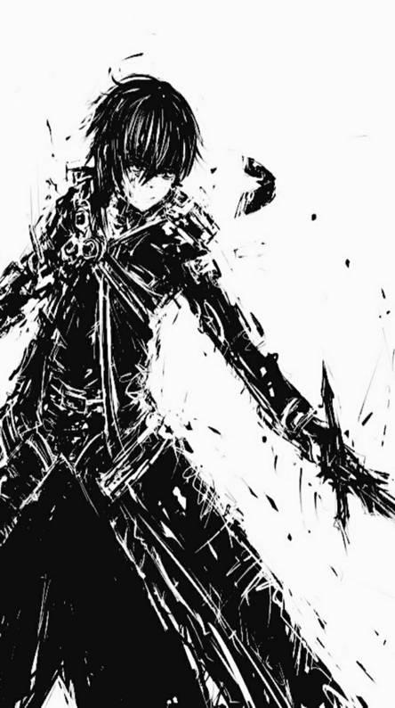 Kirito black white