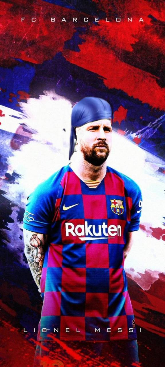 Messi with waves
