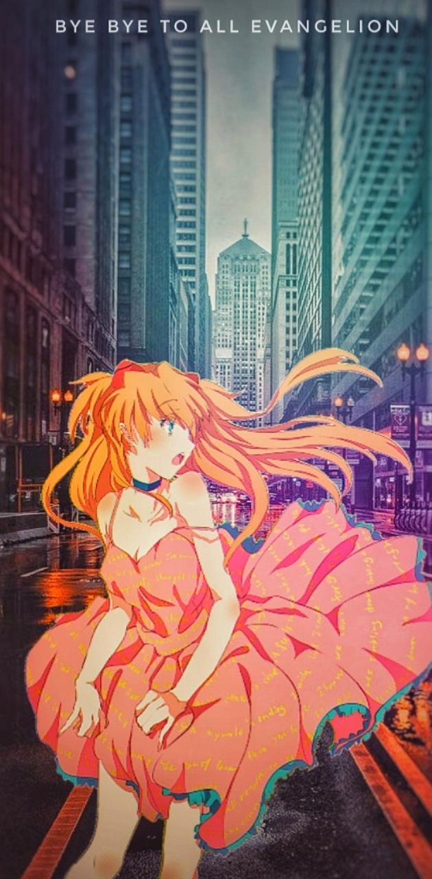 Asuka on the city