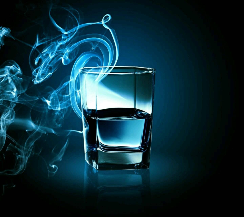 Blue smoke glass
