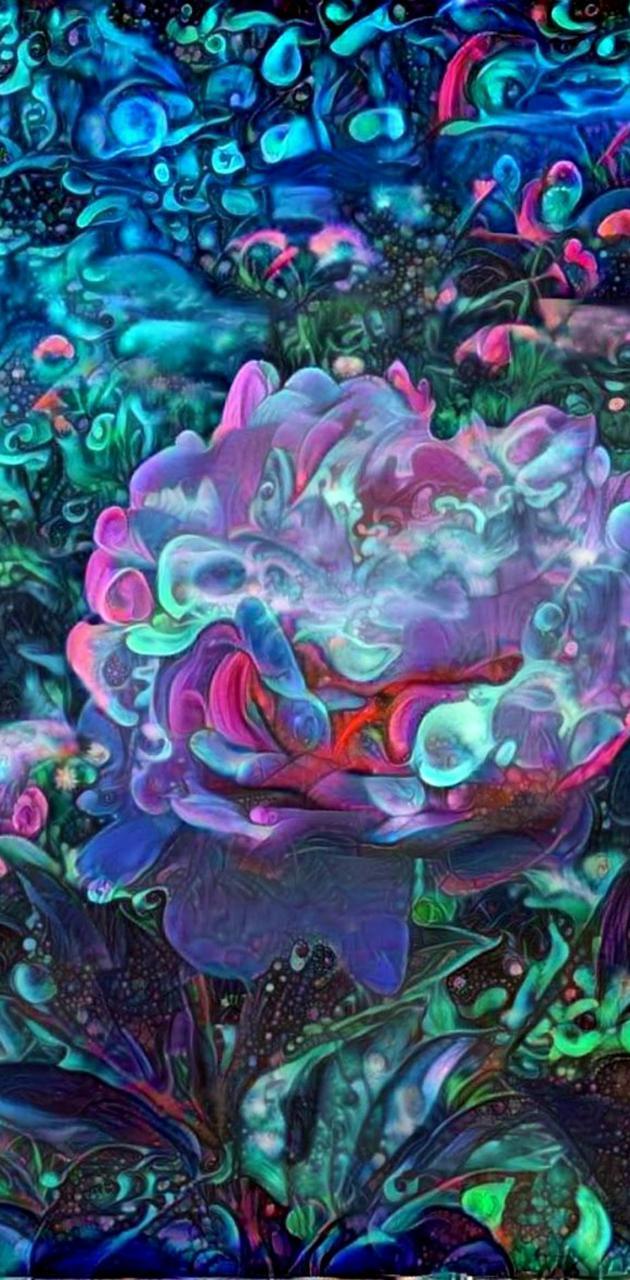 Blue Fractal Flower