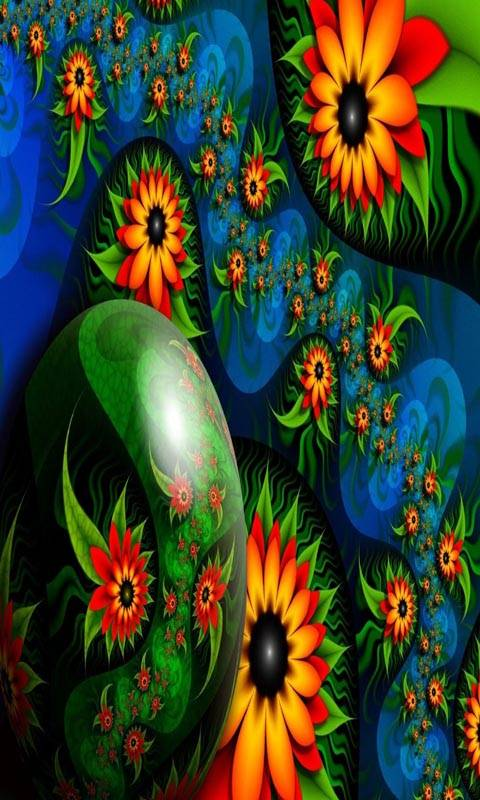 Abstract 3d Flowers