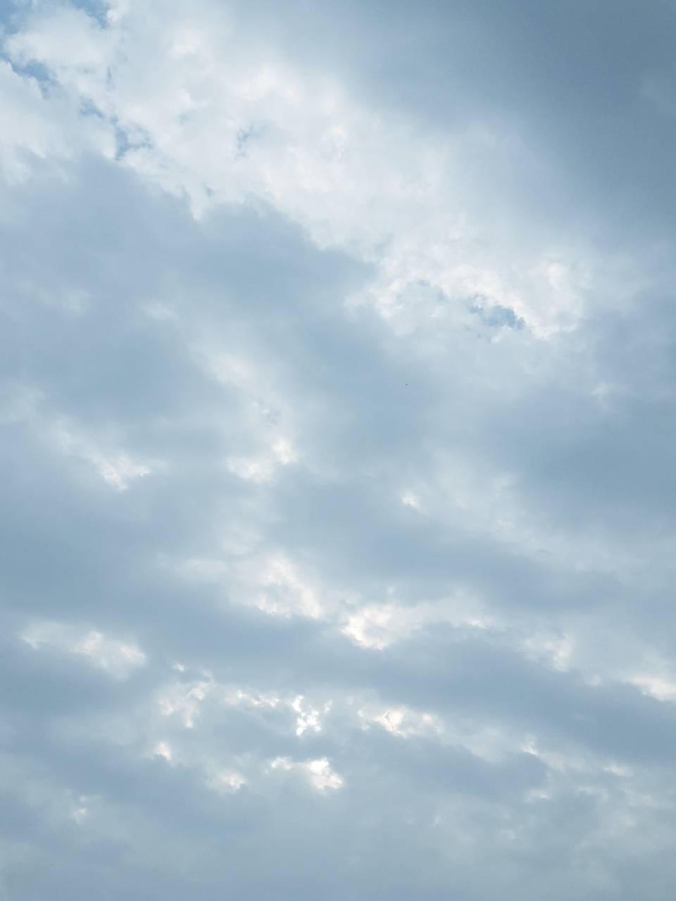 Blue sky cloud view