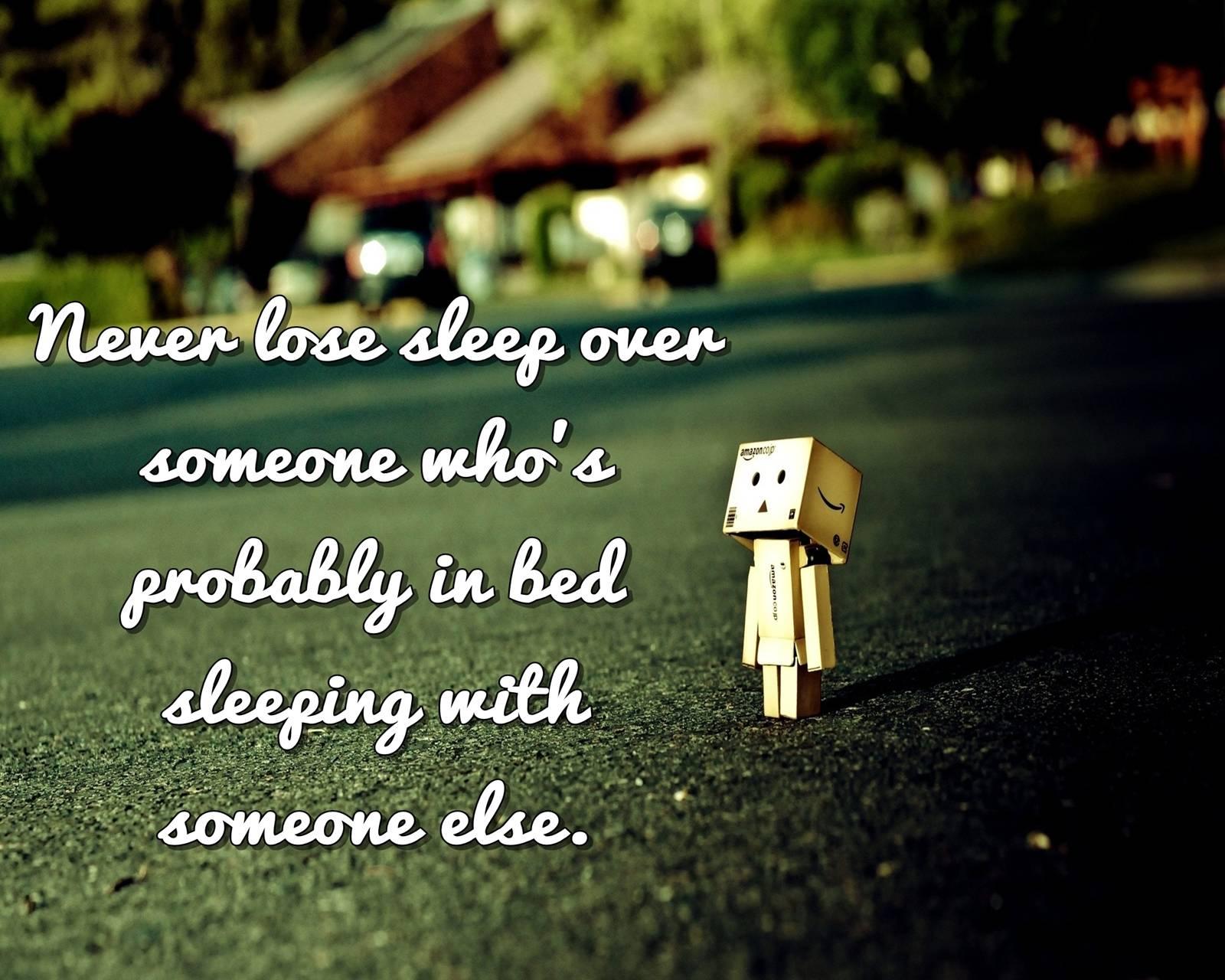 never lose sleep