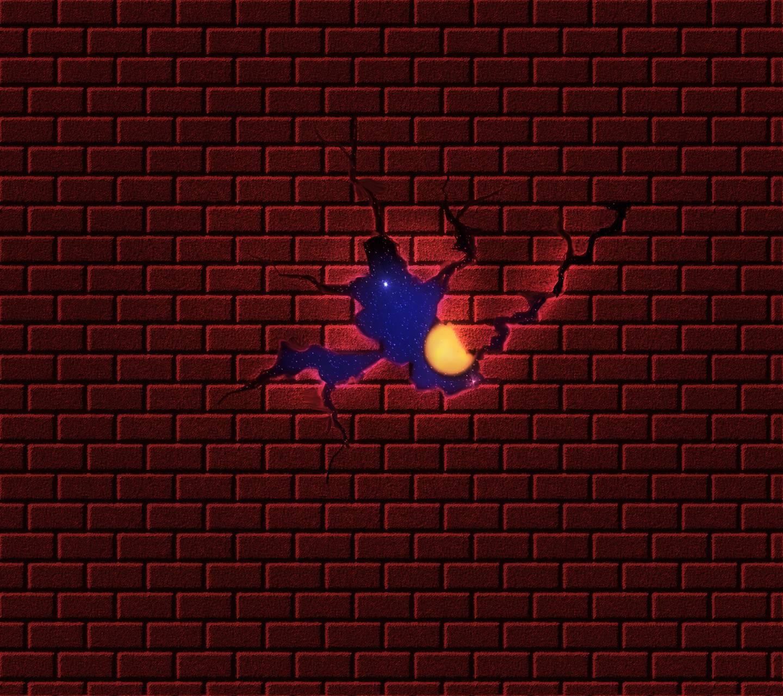 Broken brickwall