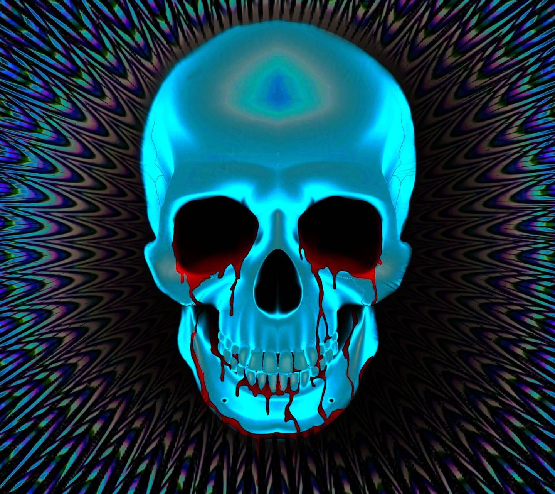 Bloody psyche skull