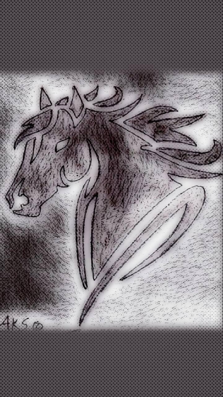Stylized Horse Art 2