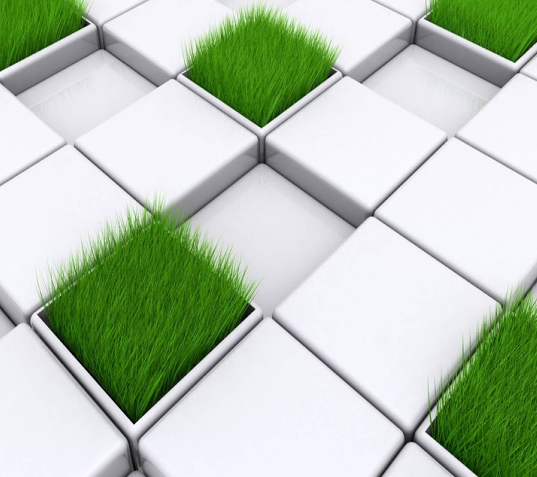 3d Grass Cubes