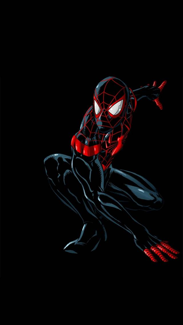 spiderman black and red - 640×960