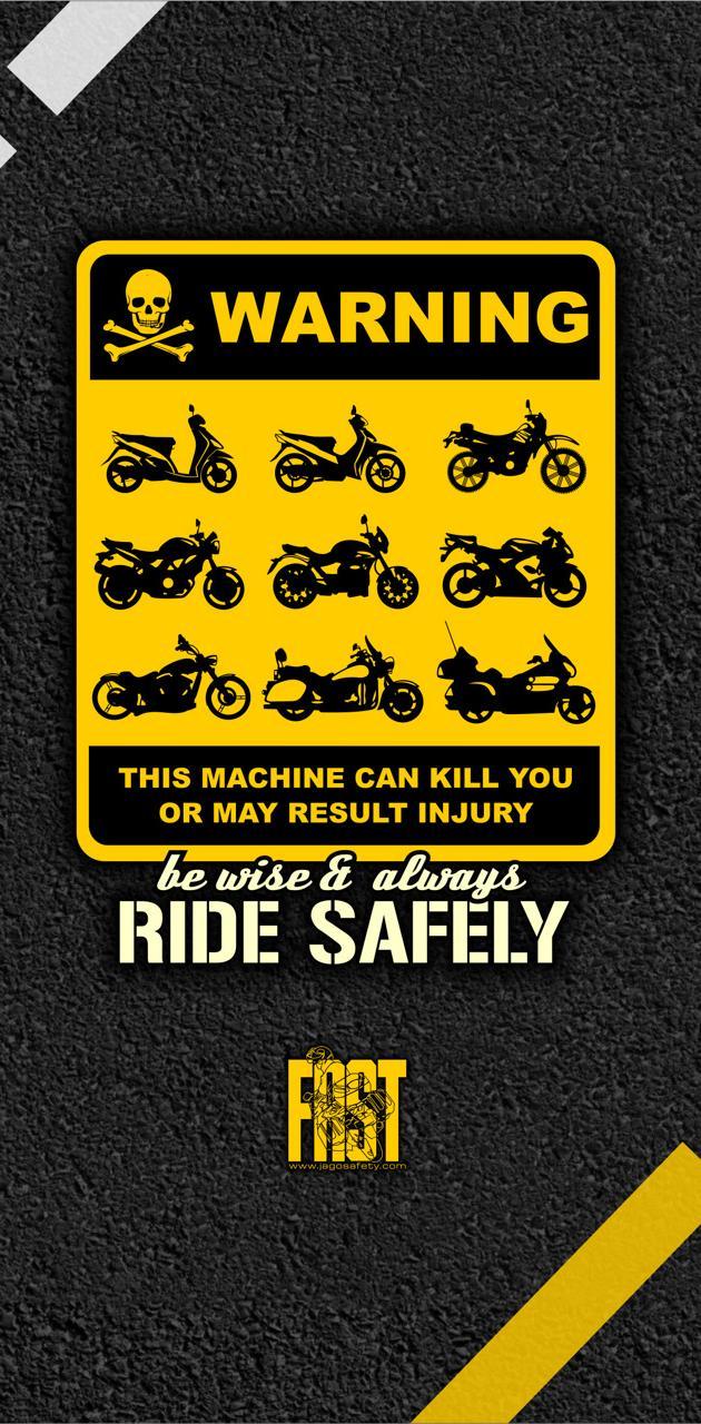 safe riding sign