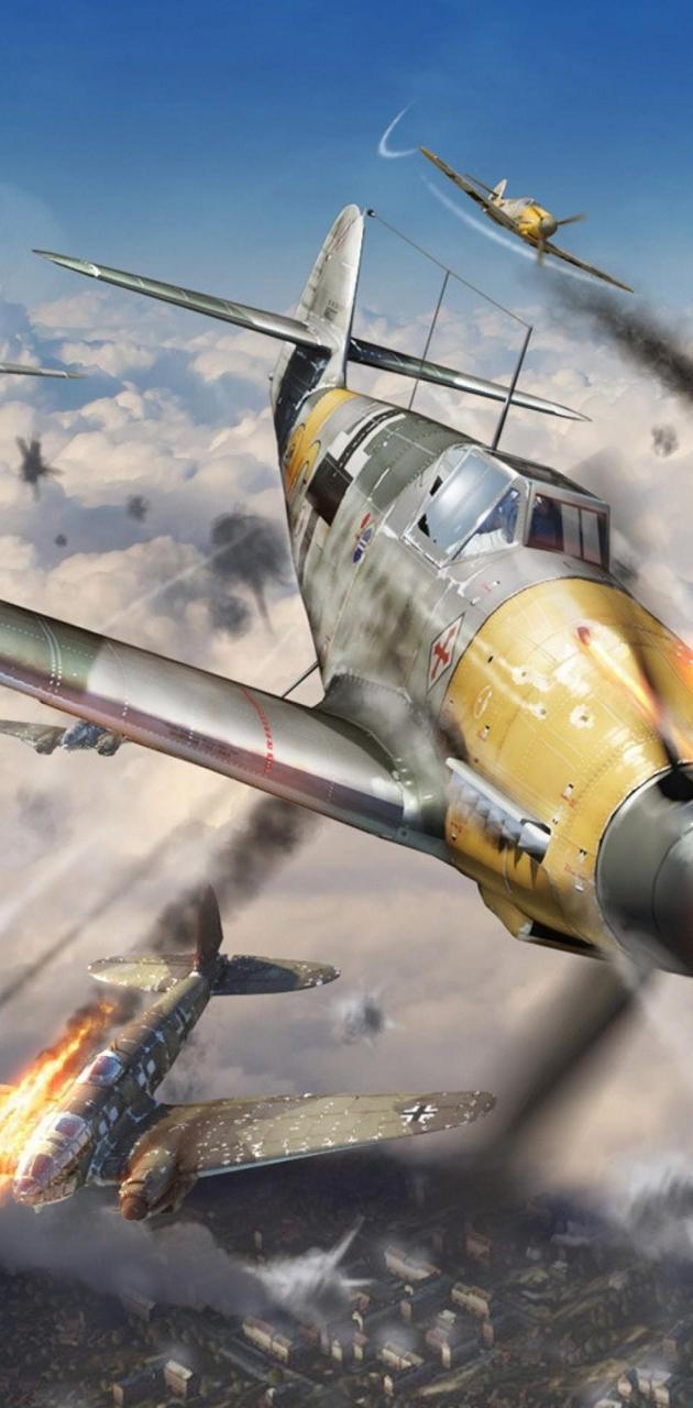 Bf109 destroy a b-29