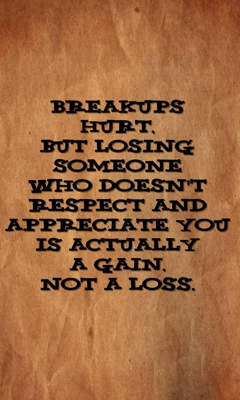 break ups hurt
