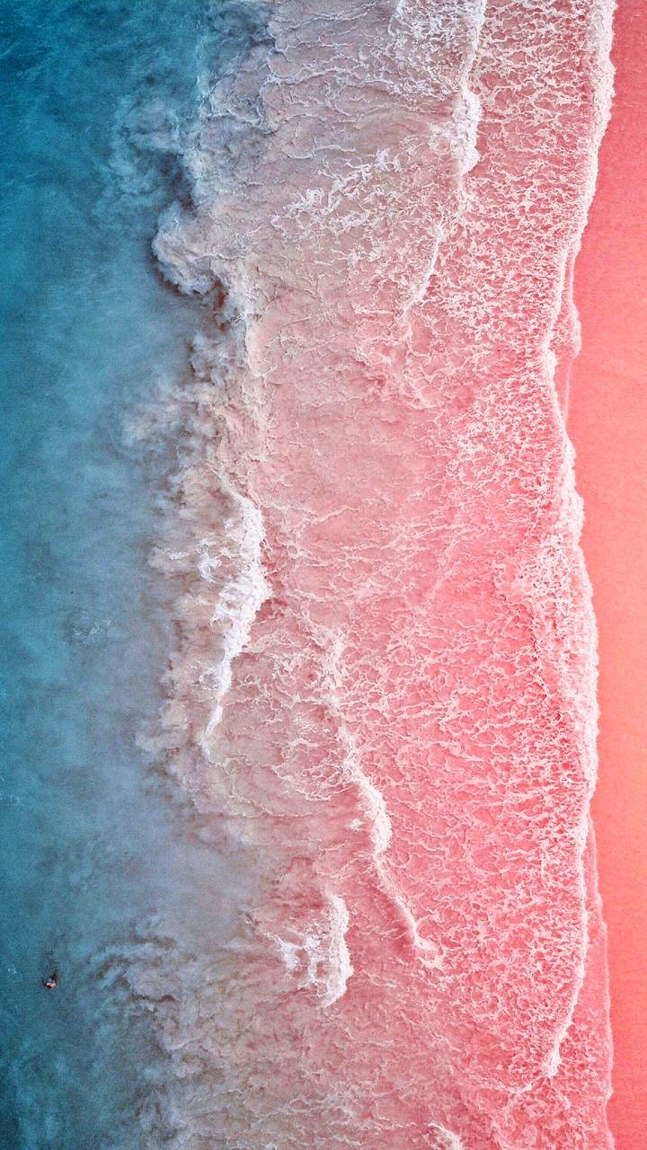 Pink blue water