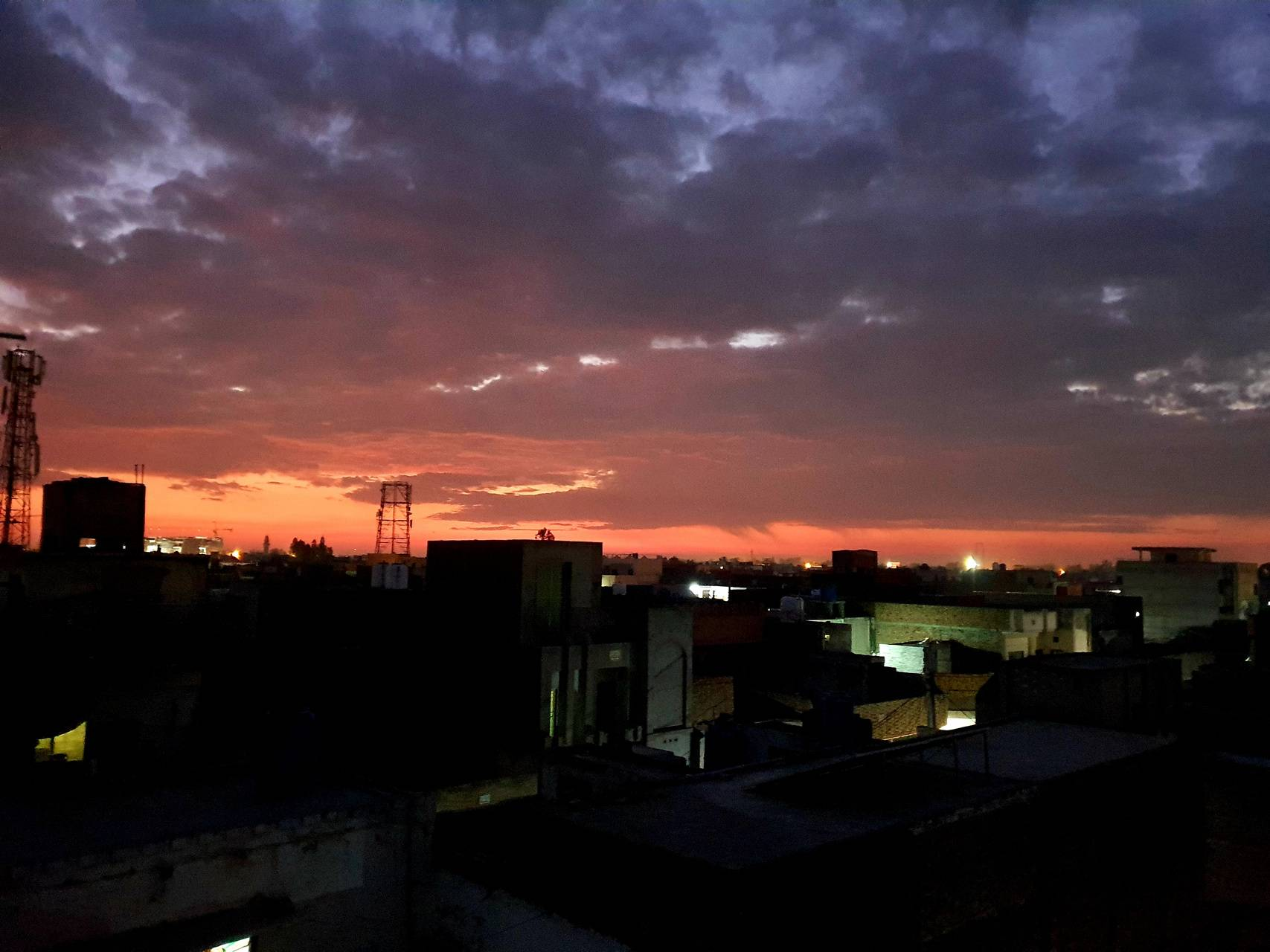 Sun with sky