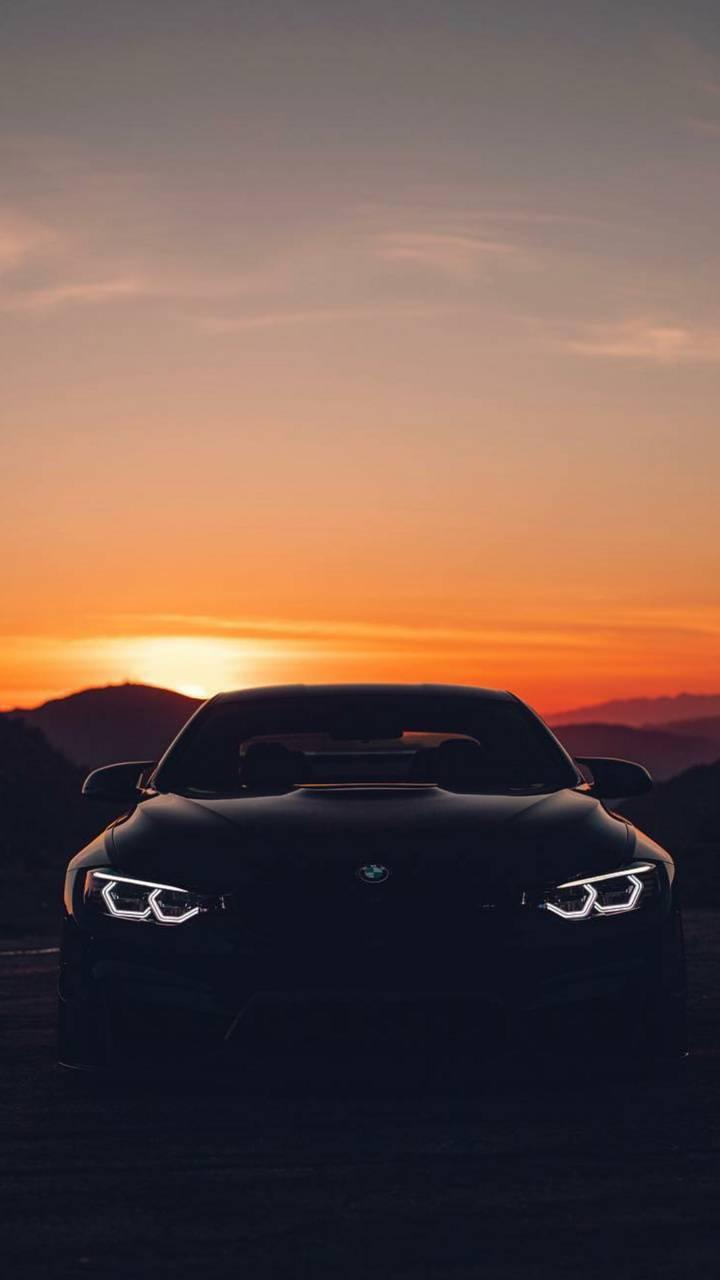 BMW sunset