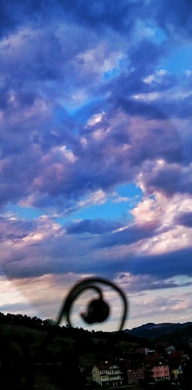 Clouds shape o heart