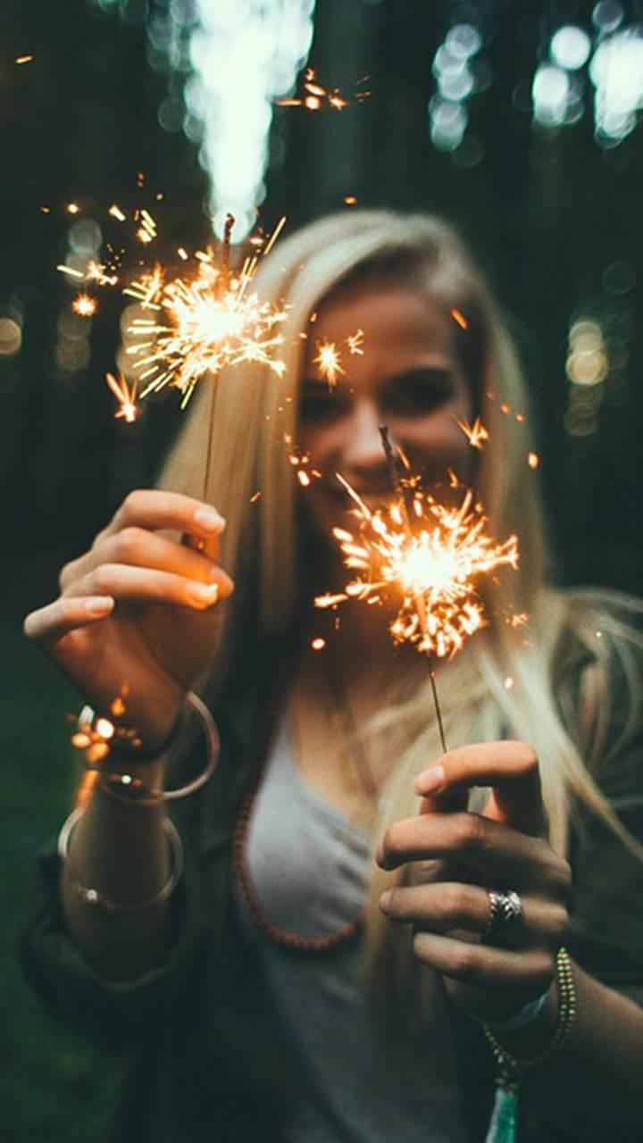 Girl firework