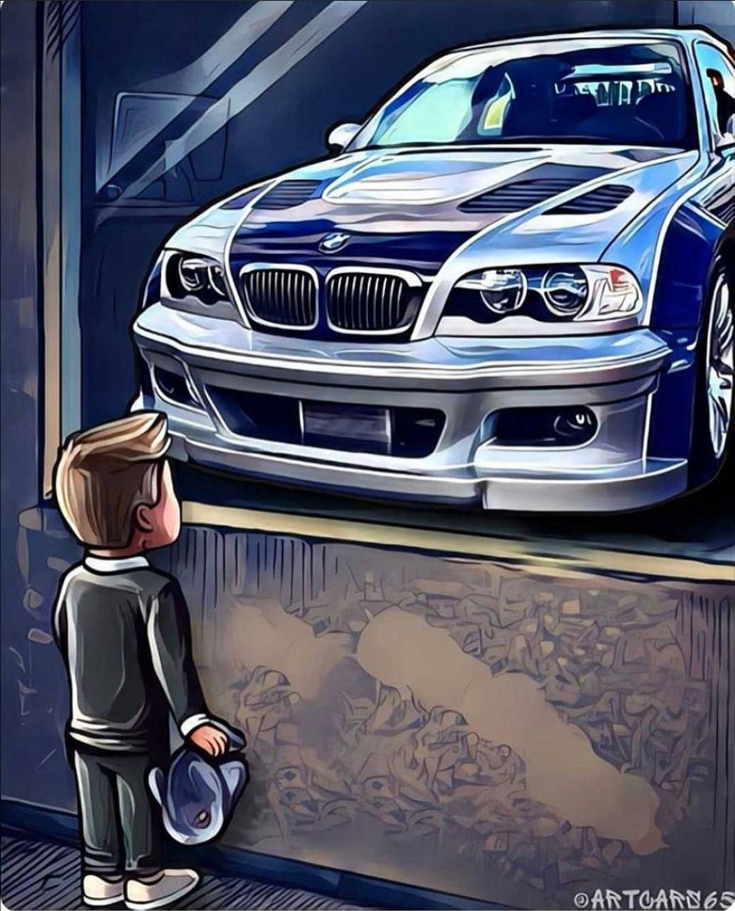 Bmw and kid