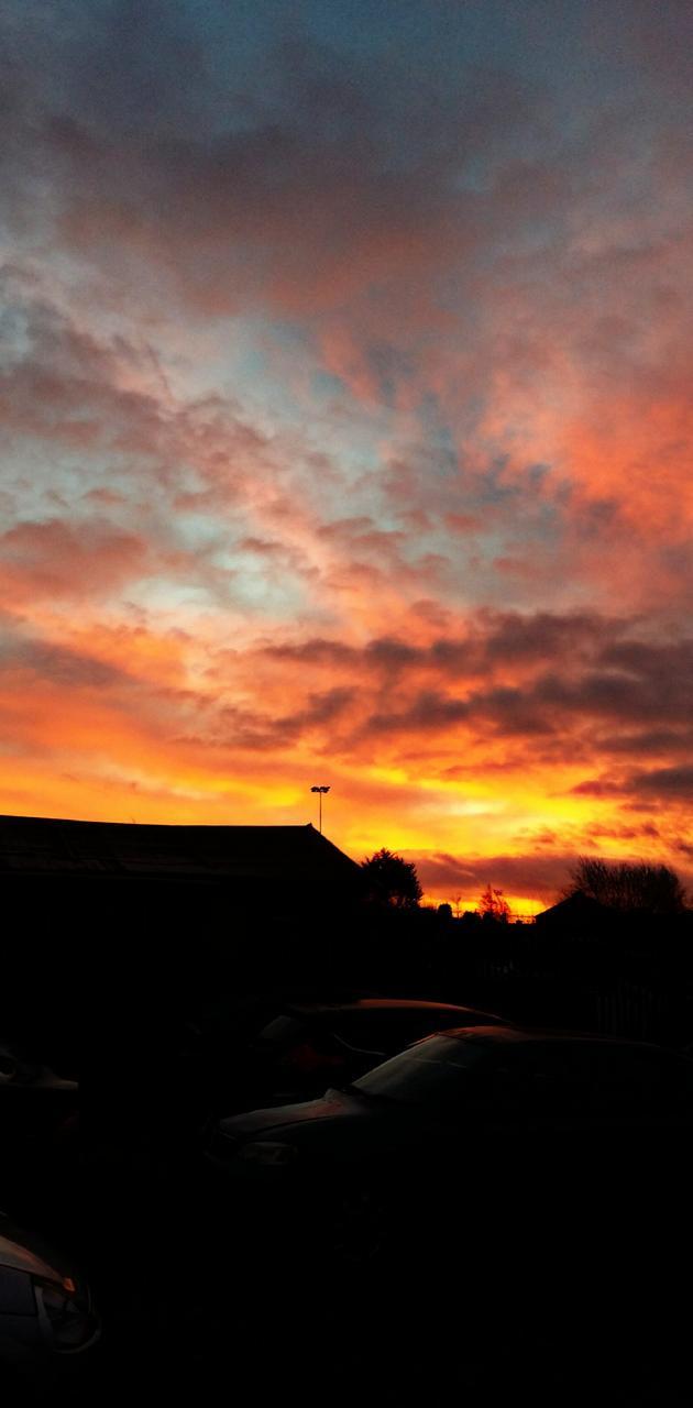 Morning fire sky