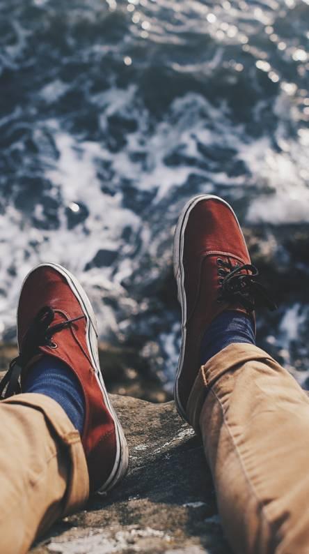 Feet Sea Waves