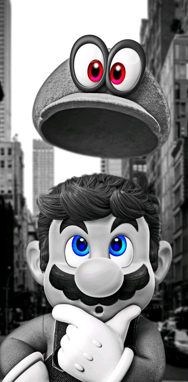 Mario Odyssey BW
