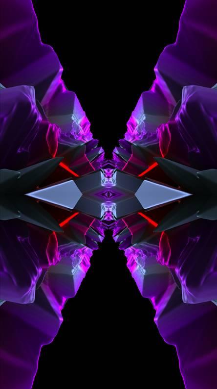 3D HD Purple Rocks
