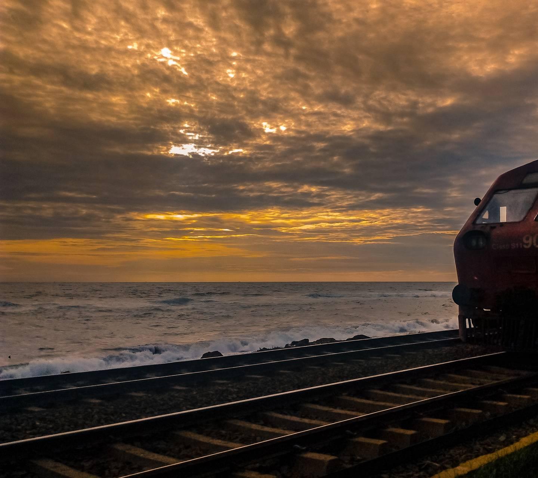 Sunset and Rails