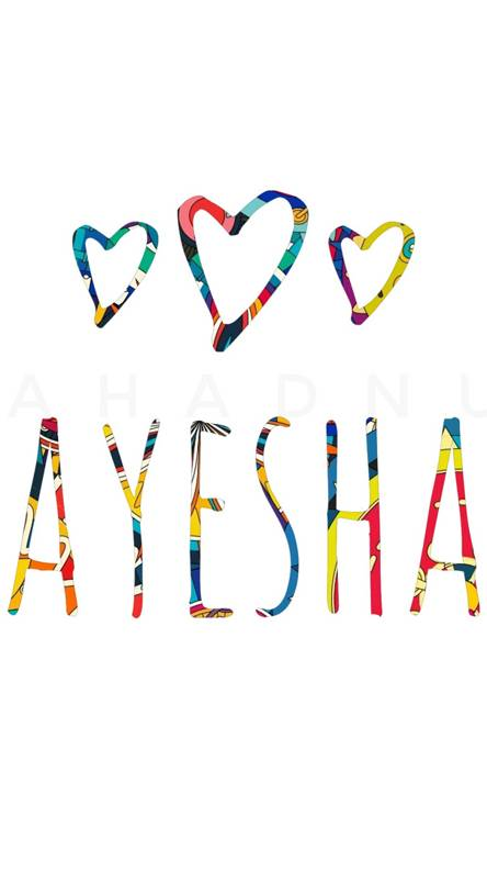 Ayesha name design Wallpapers - Free by ZEDGE™