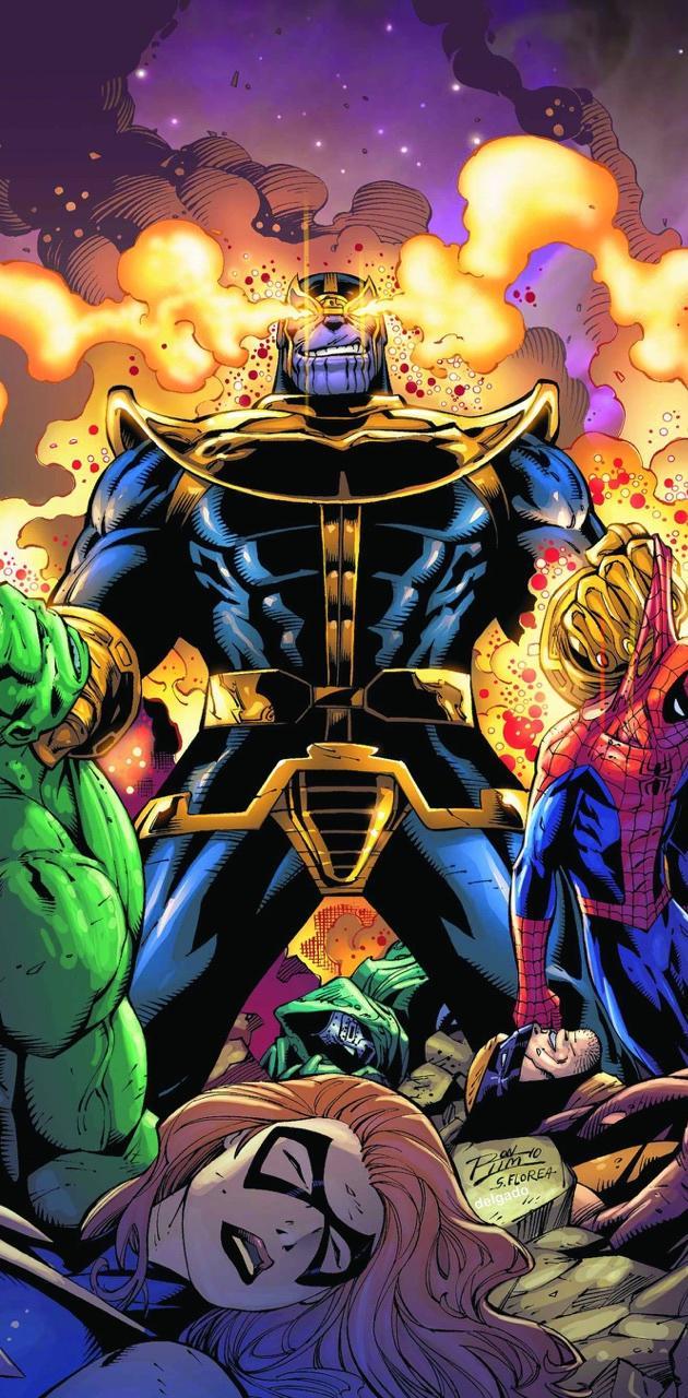 Thanos kills marvel