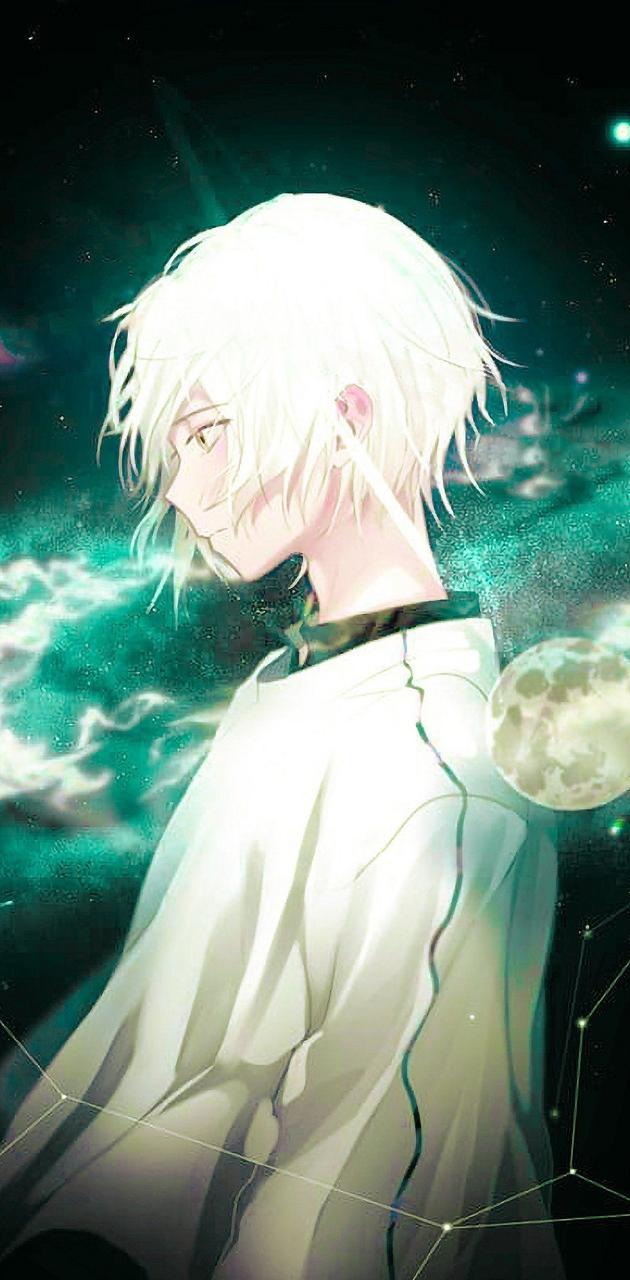 white anime boy