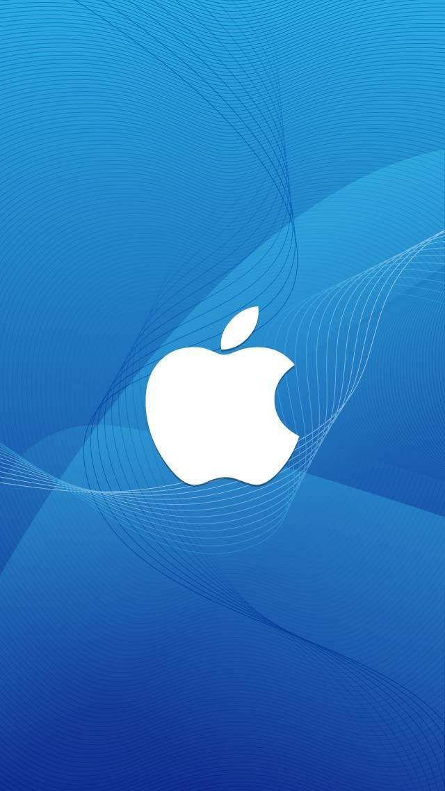 Apple-logo-in-wave
