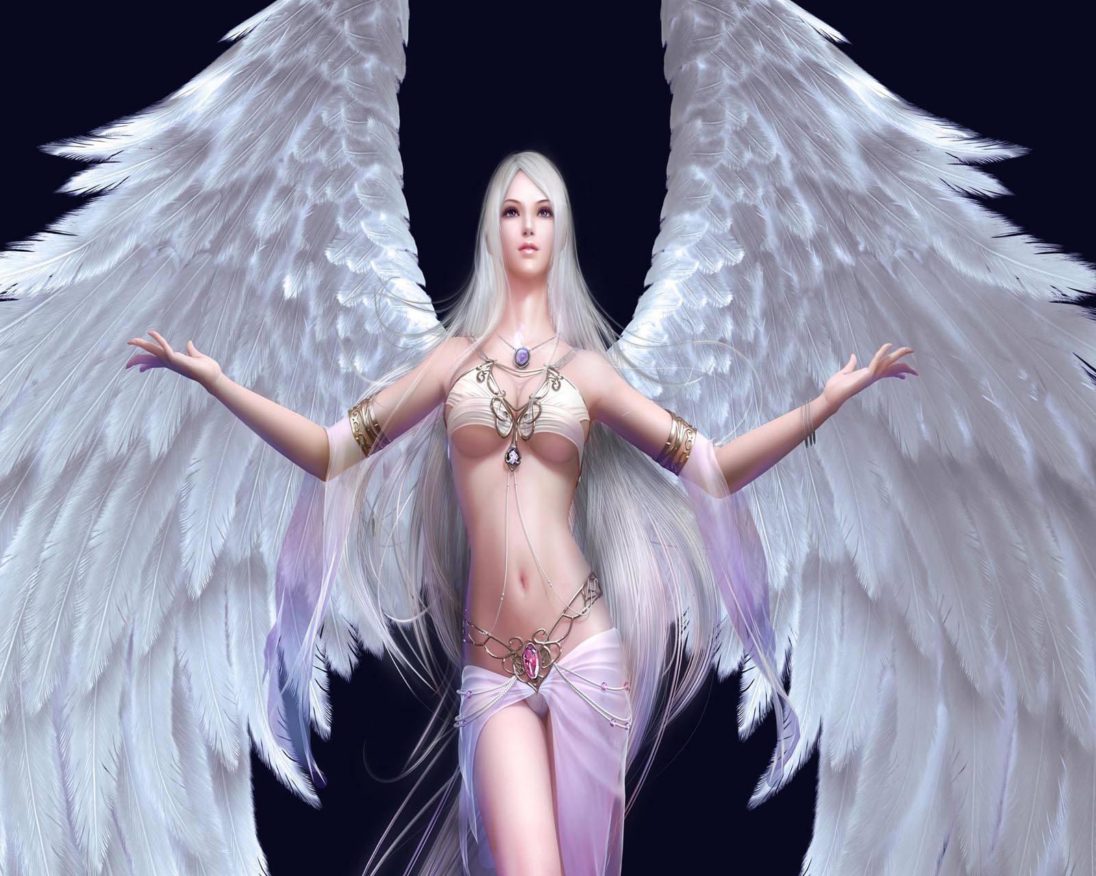 Girl white angel