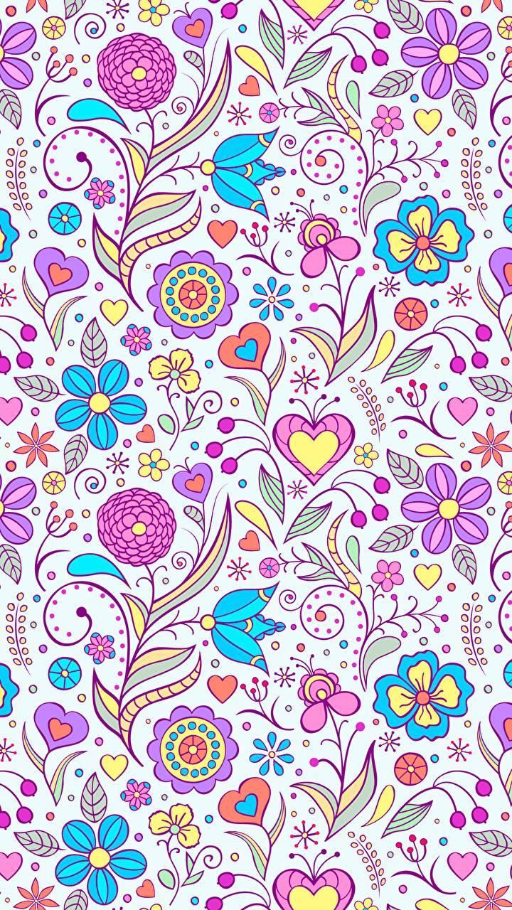 Texture flowers